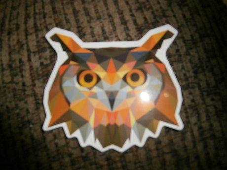 Pixelated Owl Sticker