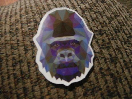 Pixelated Gorilla Sticker