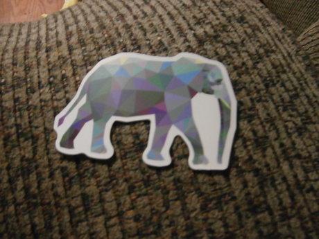 Pixelated Elephant Sticker