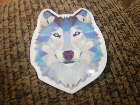 Pixelated Wolf Sticker