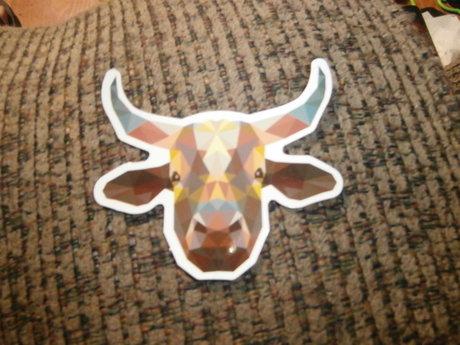 Pixelated Bull Sticker