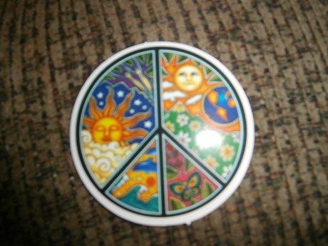 Hippie Peace Sign Sticker