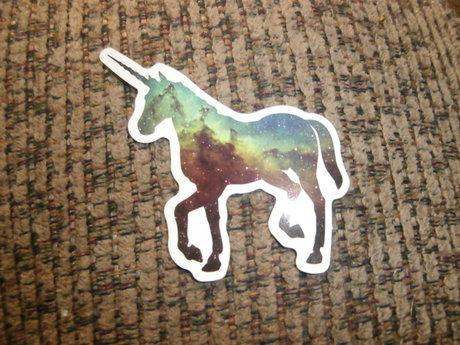 Galaxy Unicorn Sticker