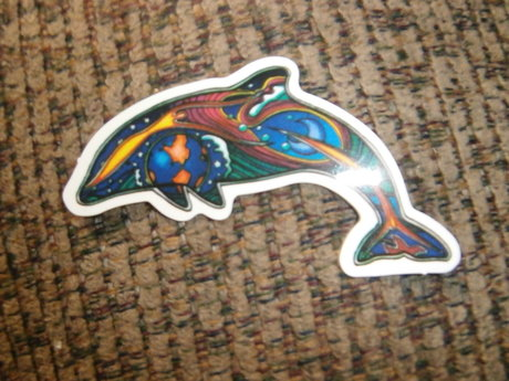 Hippie Dolphin Sticker