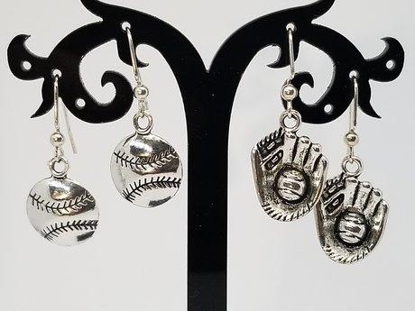 Softball/Baseball Earrings Set
