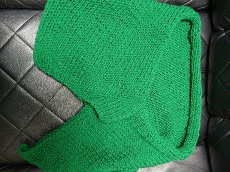 Handmade Green Knitted Scarf