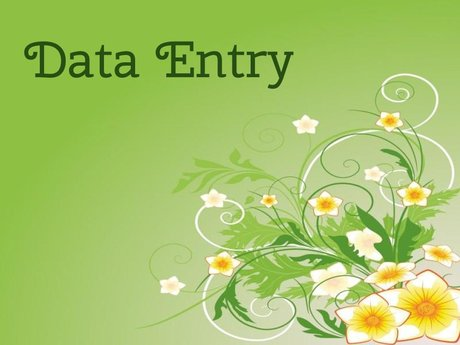 Data Entry &  Form