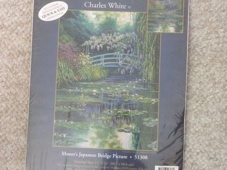 Cross-stitch kit Monet's Garden