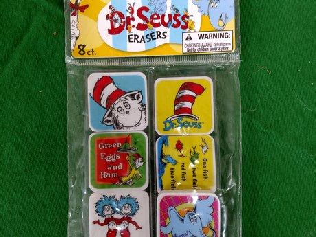 Dr. Seuss Erasers