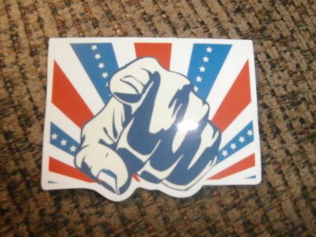 patriotic type sticker