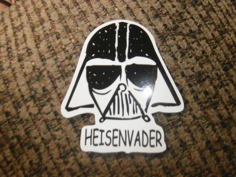heisenvader sticker