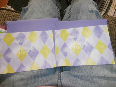 Two Thank You Note Cards