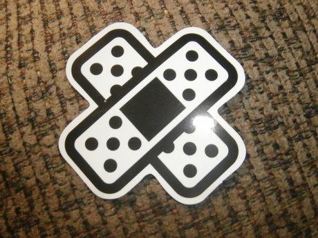 b&w bandaids sticker