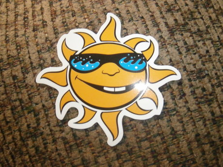 cool guy sun sticker