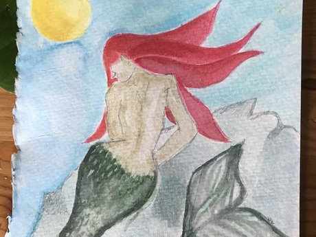 sirene de mer original watercolor