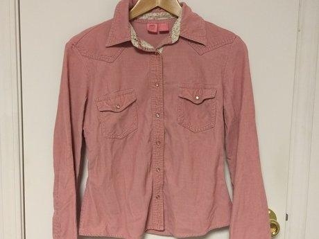 Pink Corduroy Shirt Sz M