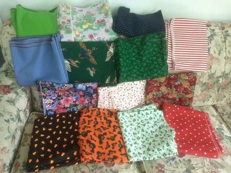 "Fabric - 17"" x 172"" each"