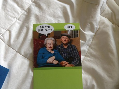 Did you fart birthday card