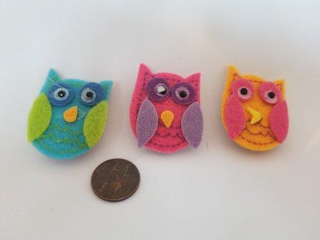 Felt Owl Magnets