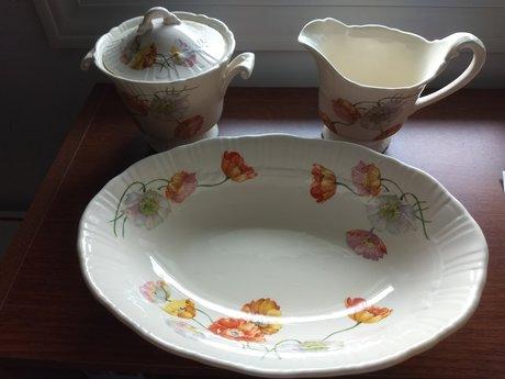 Coronet Cream & Sugar Set + Dishl
