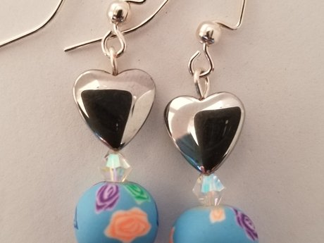 Pretty Pastel Hearts Earrings
