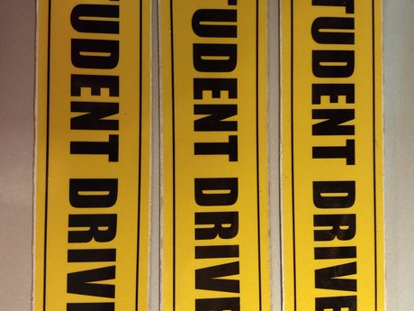 3 Magnetic Student Driver Signs