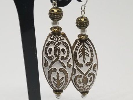Ornate Oval Earrings
