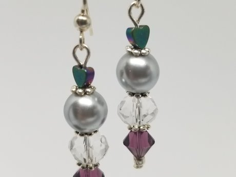 Purple & Silver Dangles