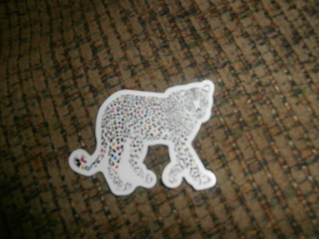 Rainbow Cheetah Sticker