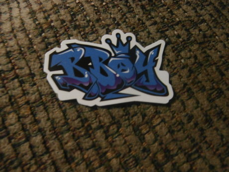 B Boy Graffiti Sticker