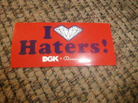 Haters Skateboard Sticker
