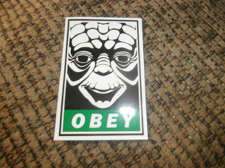 Obey Yoda Sticker