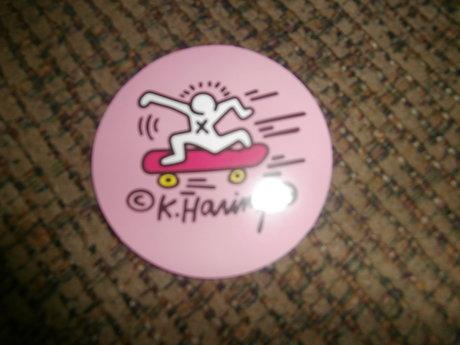 Pink Skateboarding Sticker