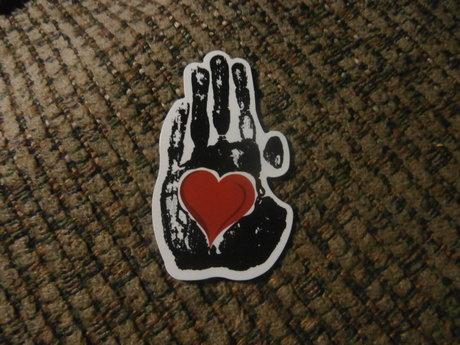 Heart in Palm Sticker