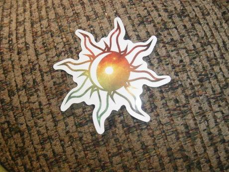 Cool Sun Sticker