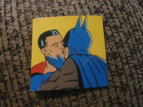 Superheros Kissing Sticker LGBTQ