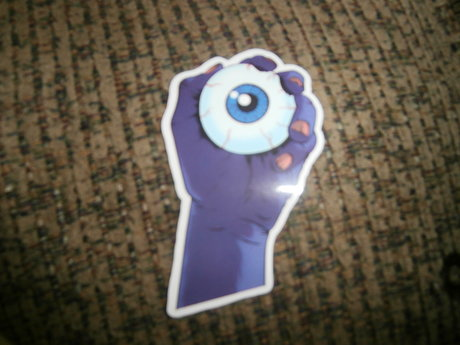 Eyeball Hand Sticker