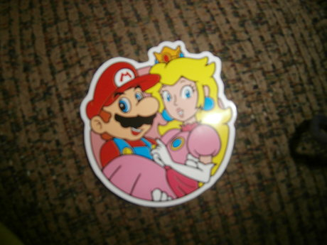 Mario and the Princess Sticker