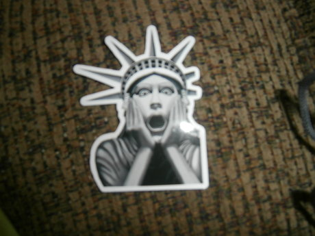 Shocked StatueofLiberty sticker