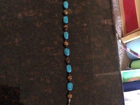 Lia Sophia Turquoise stone necklace