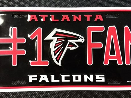Falcons license plate NEW
