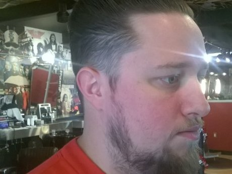 Male haircut and/or shave
