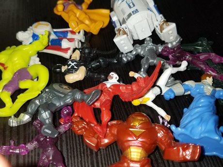 various super hero miniatures