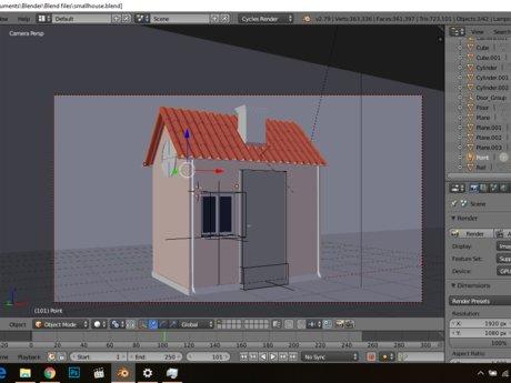 3D modeling in Blender