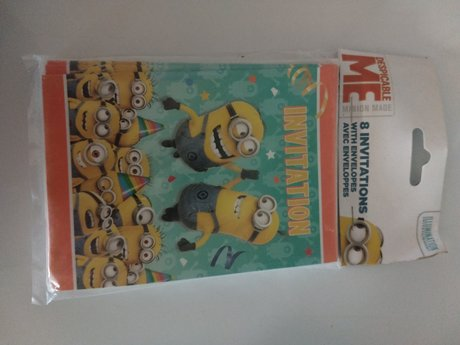 Despicable Me 8 Party Invitations
