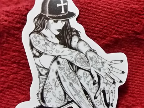 Bad Girl Pin-up Character Sticker