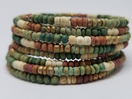 Earthy-tones Spiral Bracelet