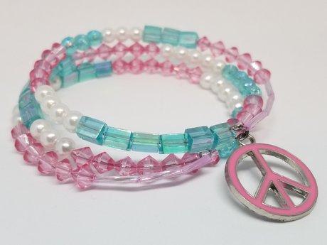 Cute Peace Memorywire Bracelet