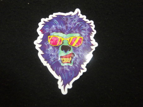 hipster bear sticker