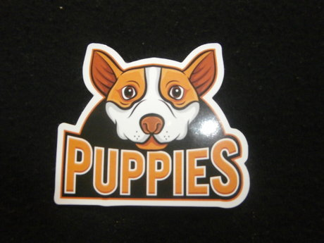 PUPPIES sticker